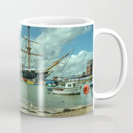 HMS Warrior at Portsmouth Harbour Coffee Mug