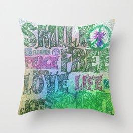 Hippie Bis Throw Pillow