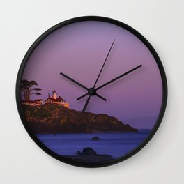 Battery Point Lighthouse at sunset, Crescent City, Del Norte County, California Wall Clock