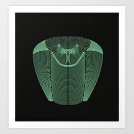 Geometric snake Art Print