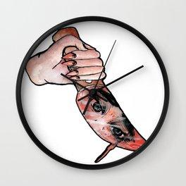 the knife girl Wall Clock