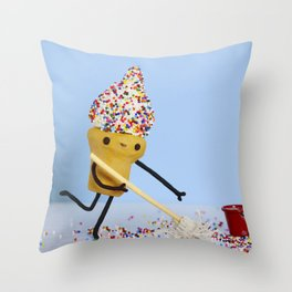 Sprinkle Cleaning Throw Pillow