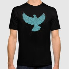 Bird Fly 3 - Aqua/Brown SMALL Mens Fitted Tee Black