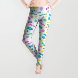 Pastel Rainbow Candy Shop Pattern Leggings