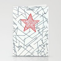 winter soldier Stationery Cards featuring Winter Soldier by Katie Kephart