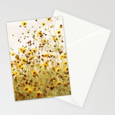 yellow flower field Stationery Cards