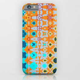 Blue, Orange and Yellow Abstract Artwork iPhone Case