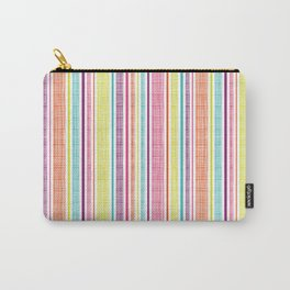 Textured Stripes Carry-All Pouch