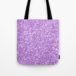 Purple Glitter Tote Bag