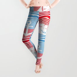 Sailboat and anchor pattern Leggings