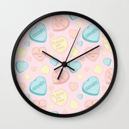 Introvert Conversation Hearts Wall Clock