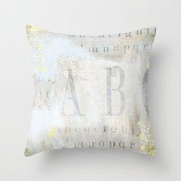 Artisan ABCs Throw Pillow