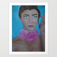 Mistress of Roses Art Print