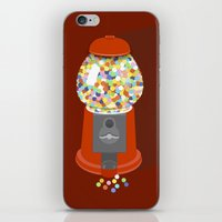 gumball iPhone & iPod Skins featuring Gumball Machine by Haley Jo Phoenix