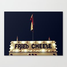 Fried Cheese Canvas Print