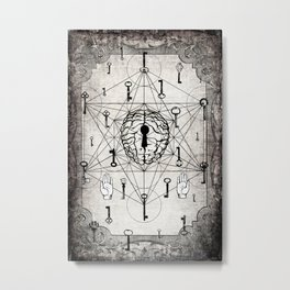 Keys to the subconscious mind Metal Print