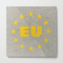 Concrete EU Flag Metal Print