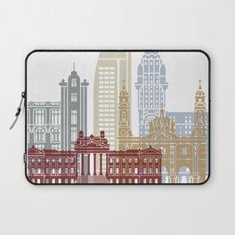 Montevideo skyline poster Laptop Sleeve