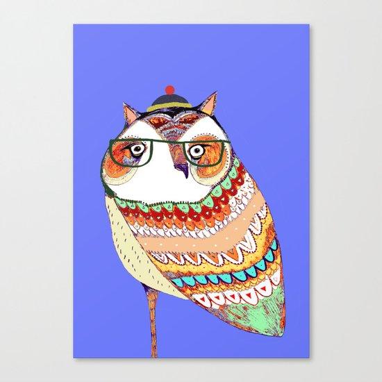 Owl, owl art, owl illustration, owl print,  Canvas Print