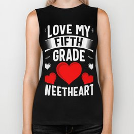 Love My Fifth Grade Sweethearts Biker Tank