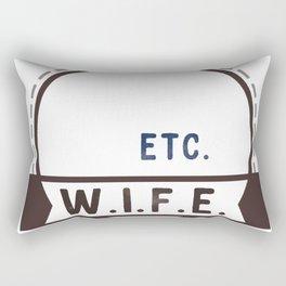 W.I.F.E. - wife, milf - WHITE Rectangular Pillow