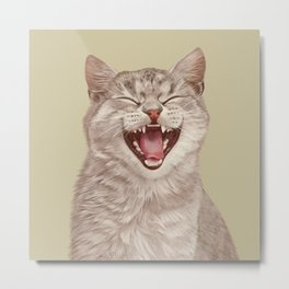 Smiling Cat Metal Print
