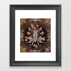 Jardin secret Framed Art Print