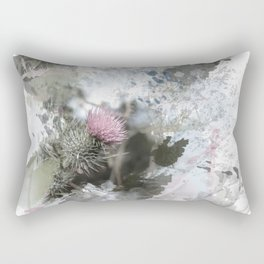 Painted thistle on textured background Rectangular Pillow