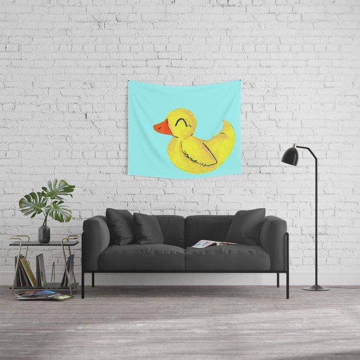 Happy Ducky Wall Tapestry