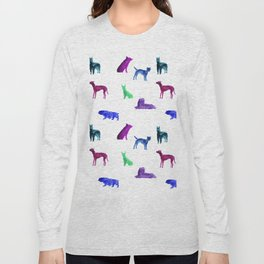 Dog Pattern Long Sleeve T-shirt