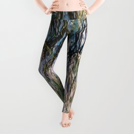 Colorful hairy abstract Leggings