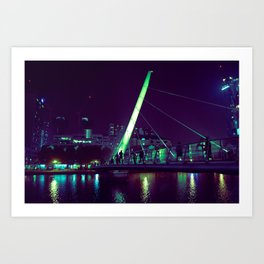 Bridge from Canary Wharf Art Print