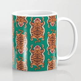 TIBETAN TIGER - ALL OVER (green) Coffee Mug