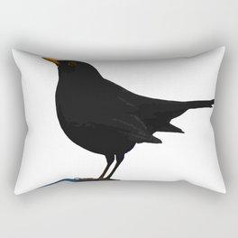 Blackbird Vector Rectangular Pillow