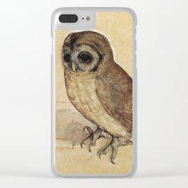 Albrecht Durer - The Little Owl 1506 Clear iPhone Case