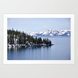 Winter in Lake Tahoe. Nevada. USA Art Print