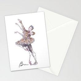 Iana Salenko and Steven McRae in Nutcracker pas de deux Stationery Cards