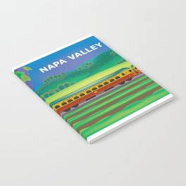 Napa Valley, California - Skyline Illustration by Loose Petals Notebook