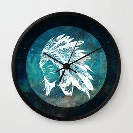 Moon Child Goddess Bohemian Girl Wall Clock