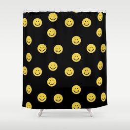 Happy Face - smiley, smiles, happy, emoji, cute, 90s, happy face Shower Curtain