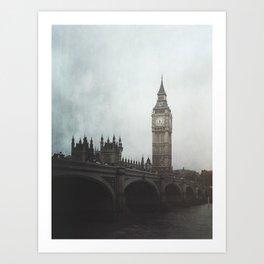 Moody London Vibes Art Print