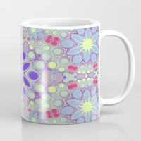 hippy Mugs featuring Hippy Circles And Flowers by ALLY COXON