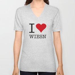 I LOVE WIESN Unisex V-Neck
