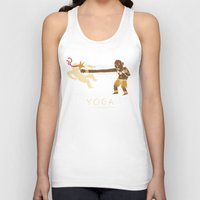 yoga Tank Tops featuring yoga. by Louis Roskosch