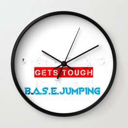 Base Jumping Jump Parachuting Sky Diving Dive Gift Wall Clock