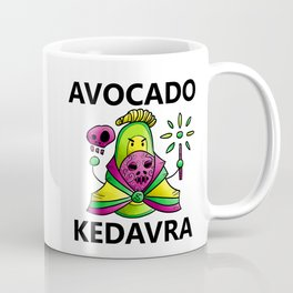 Avocado Kedavra - Death Eater Avocado with Wand Coffee Mug