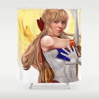 sailor venus Shower Curtains featuring Sailor Venus by KlsteeleArt