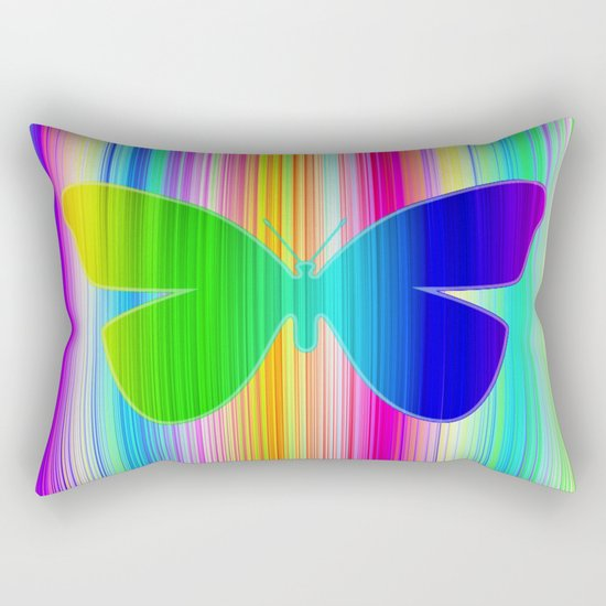 Colored butterfly Rectangular Pillow