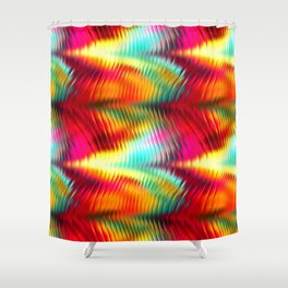 waves 4 Shower Curtain