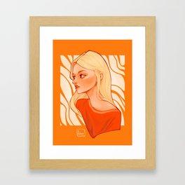 Orange vibes Framed Art Print
